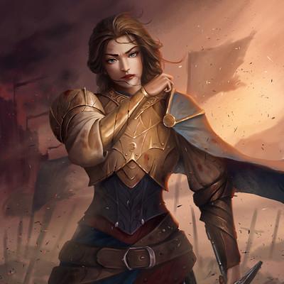 Danvici art widow of war