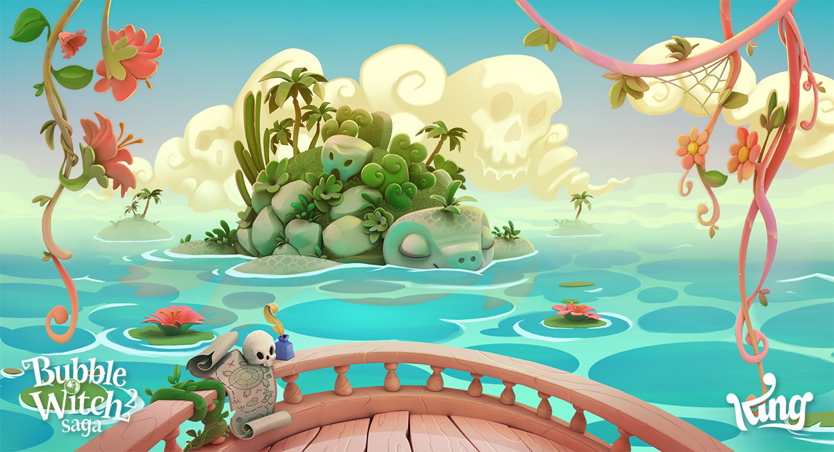 ArtStation - Bubble Witch Saga 2 - Backgrounds, Rosa B ...