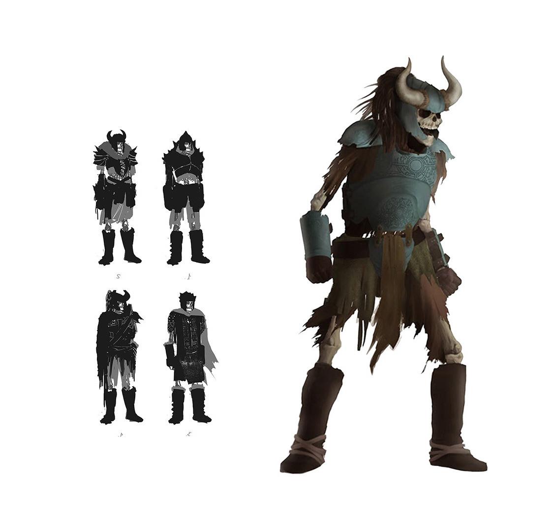Skull boss for Barbarian videogame