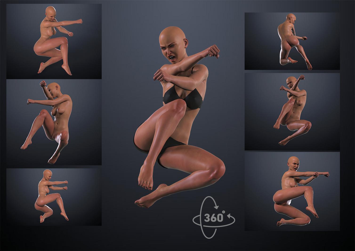 ArtStation - Female Pose Reference, Inspiring References