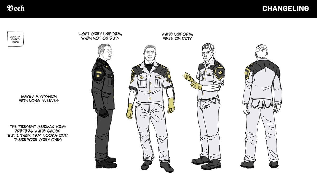 Major Victor Beck, Oberstabsarzt, uniform concepts.