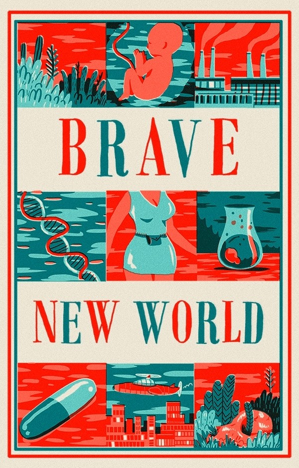 postmans analysis of brave new world Brave new world is aldous huxley's 1932 dystopian novel borrowing from the tempest , huxley imagines a genetically-engineered future where life is pain-free but meaningless the book heavily influenced george orwell's 1984 and science-fiction in general.