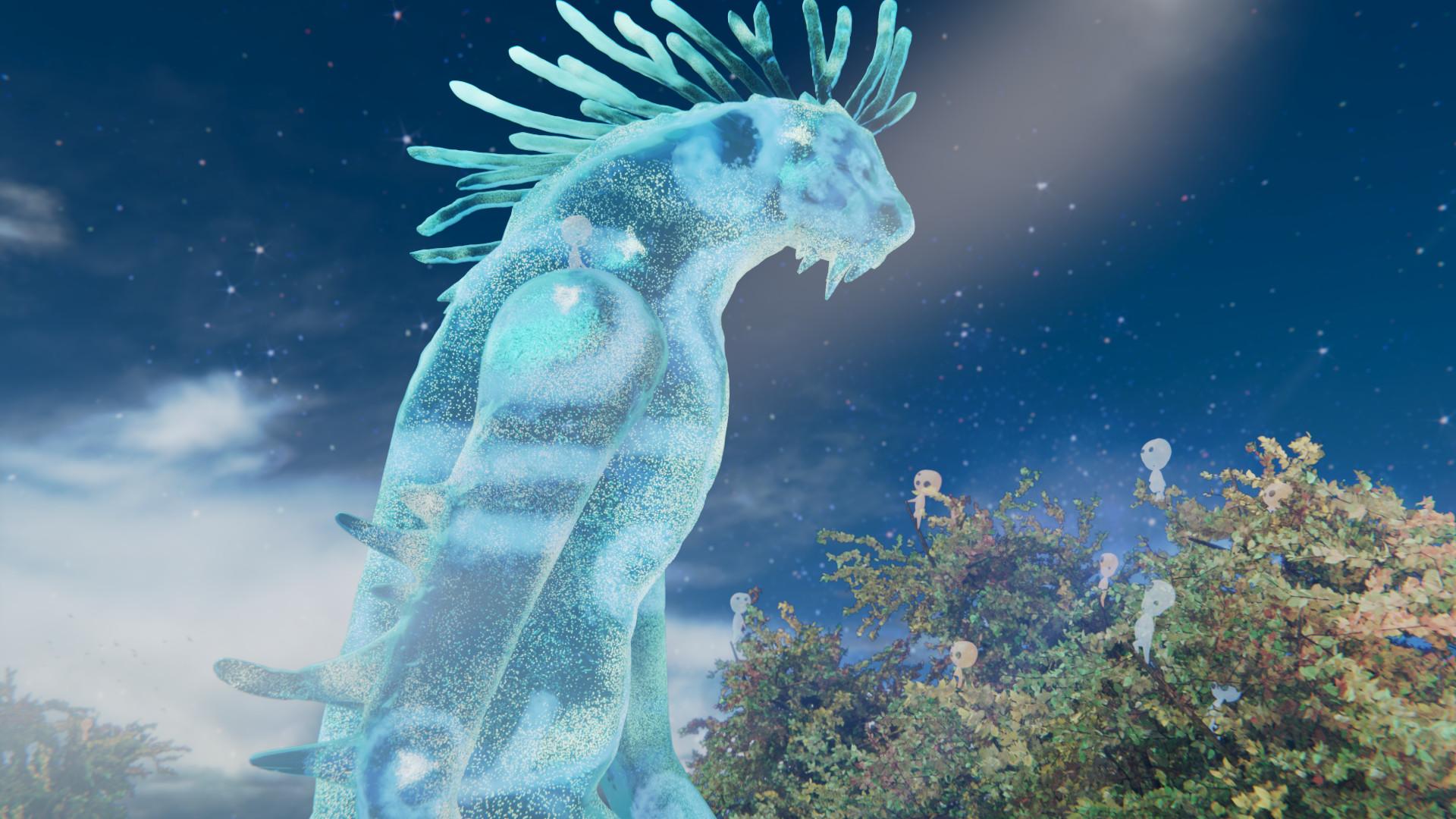 Artstation Princess Mononoke Forest God Nightwalker Kai S
