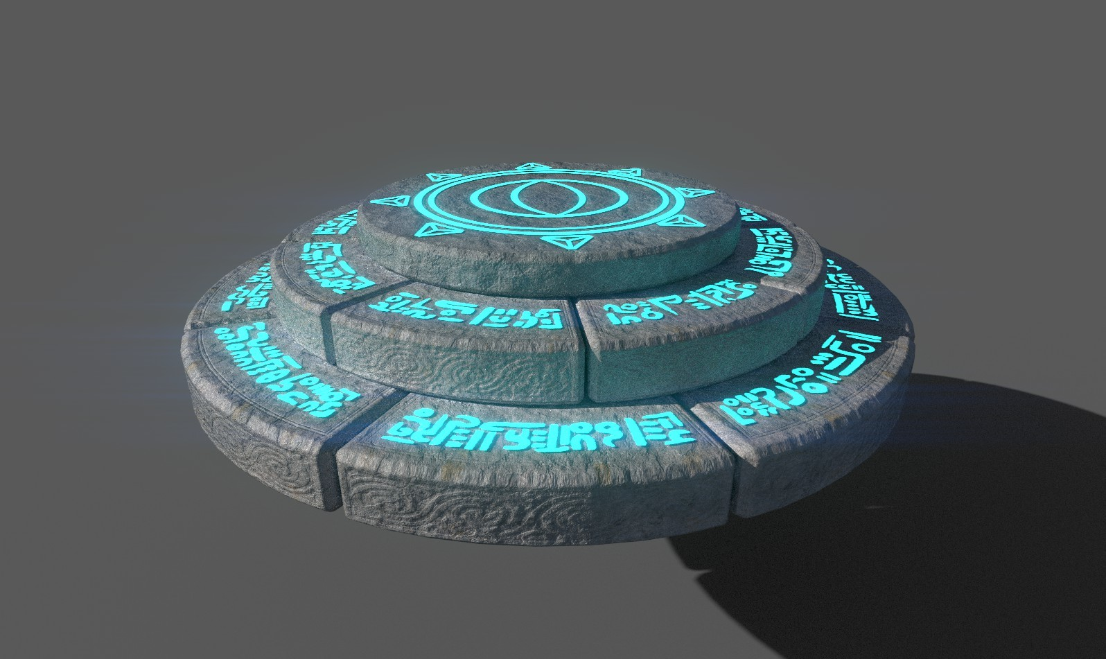 3D model of the respawn point, created in maya, textured in Substance painter.