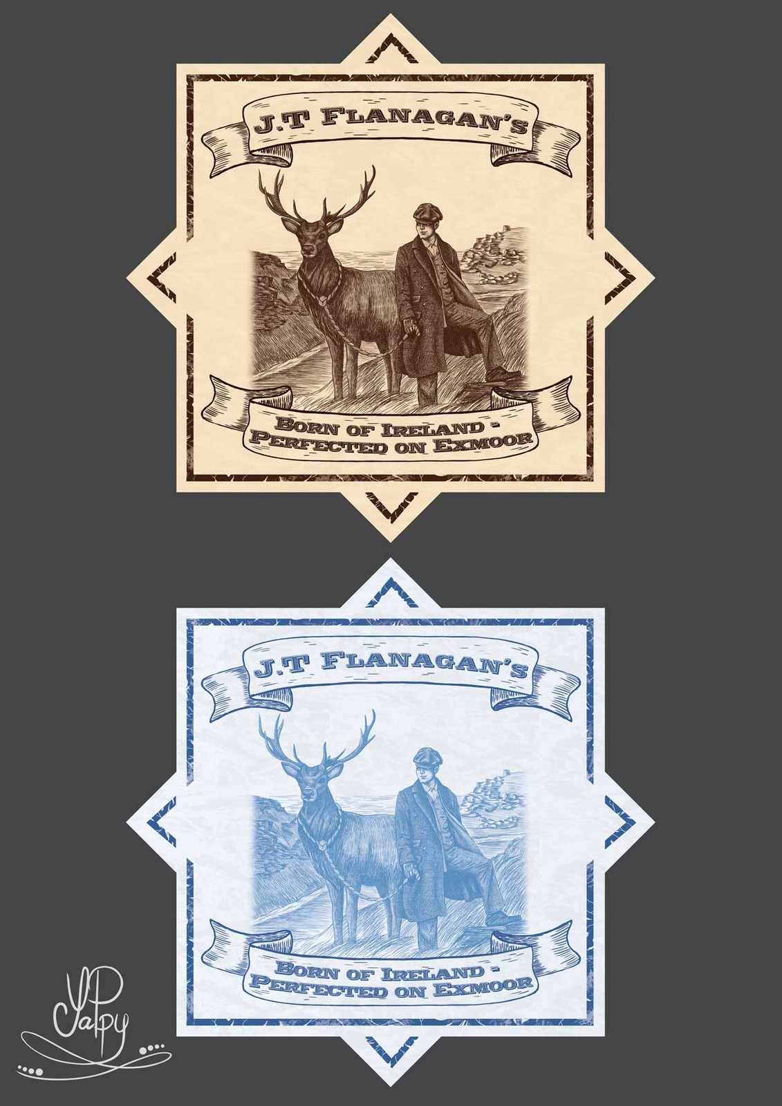 Label design J.T Flanagan's