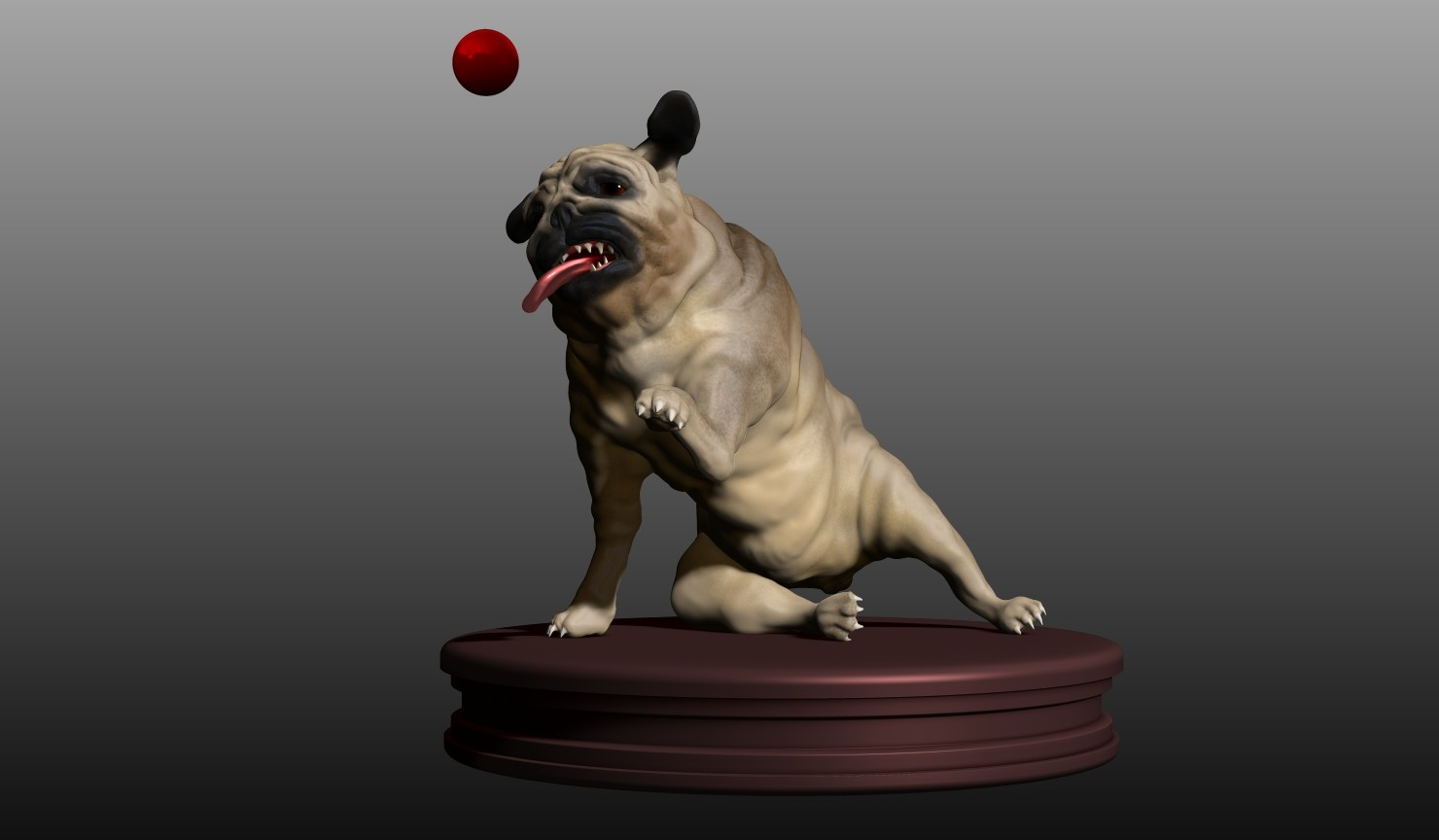 Participated in a speedsculpt competition. The task was to sculpt a dog. This is my entry.