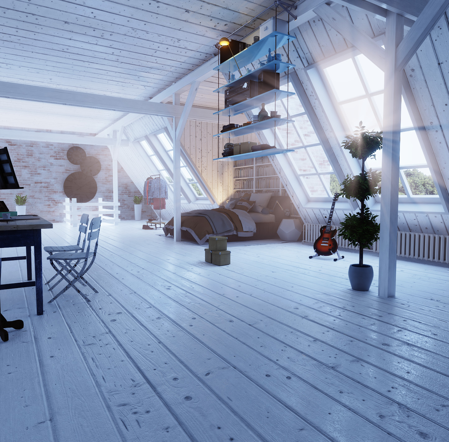 Attic atmospheric lighting