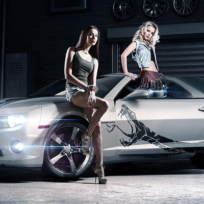 Lina sidorova cars with chics3 fin white fix