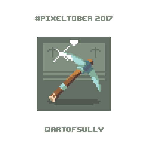 #pixeltober - Day 18 - 'Mining Pickaxe'
