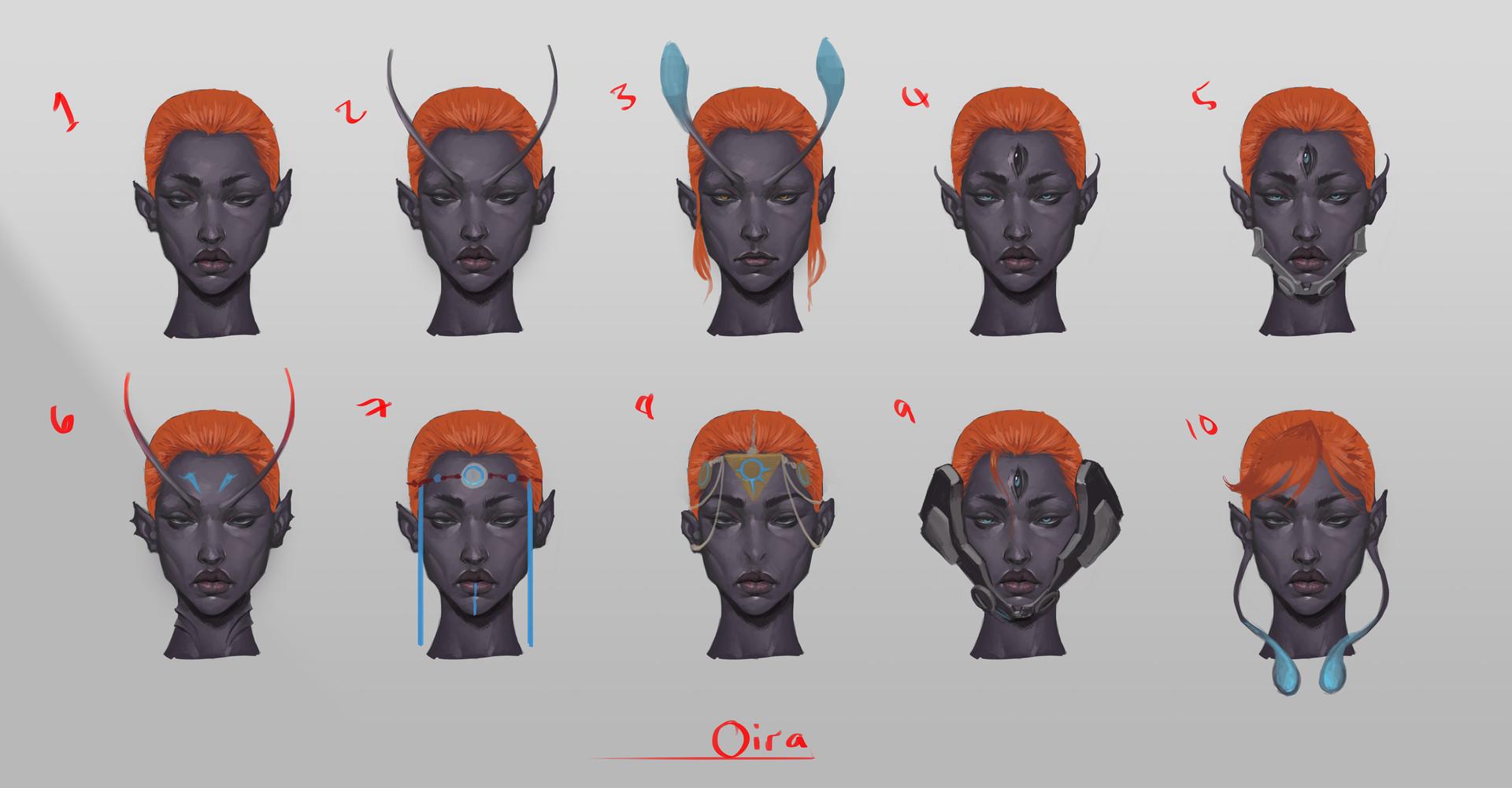 Tumo mere alien female busts