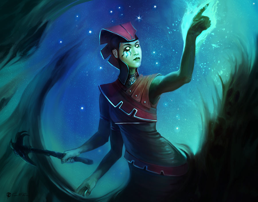 Class: Navigator/Guide Distinguishing Elements: Extra limbs Species: Witch Genre: Horror Motif: Wave Time: Ancient Empires Gender: Female