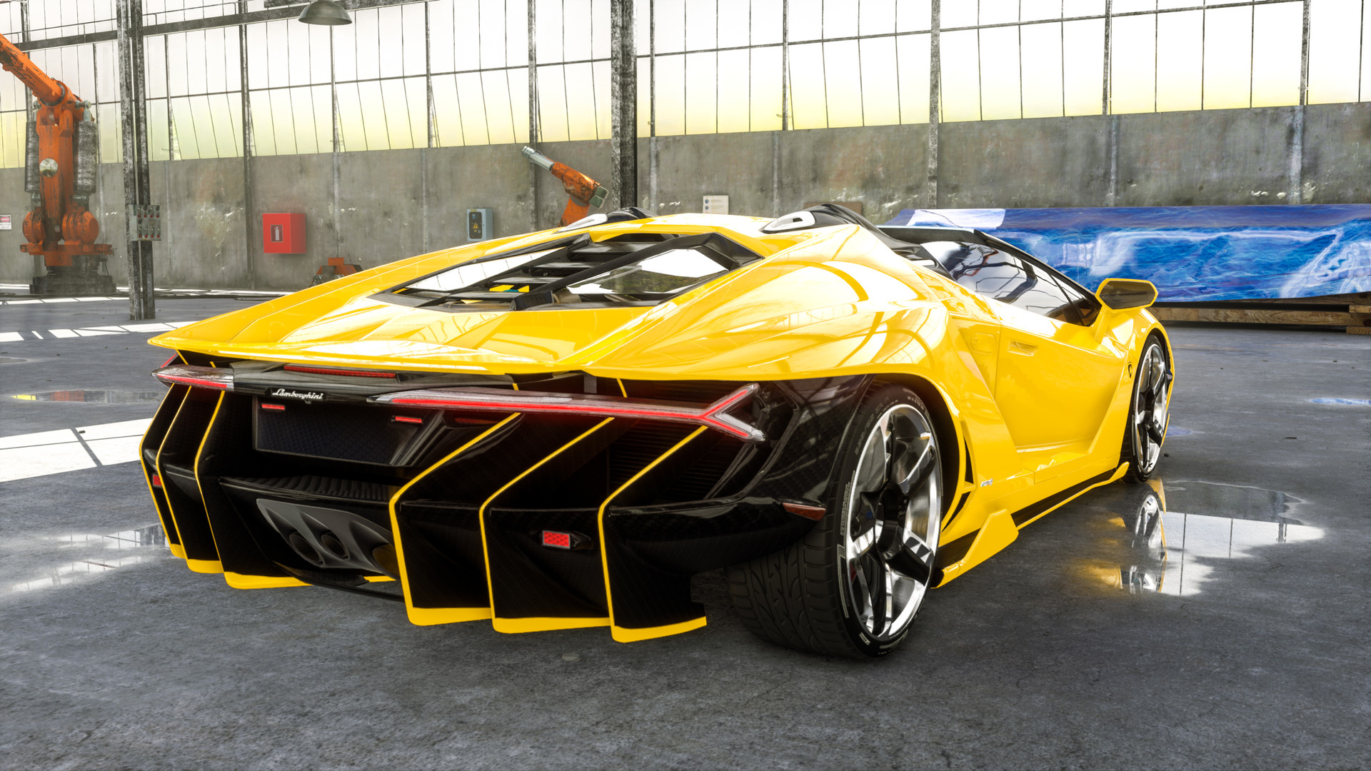 ArtStation - UE4 - Lamborghini Centenario Car Customizer