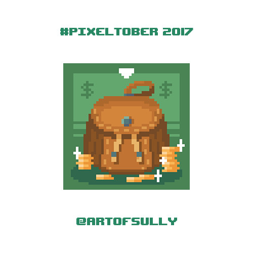 #pixeltober - Day 19 - 'Coin Pouch'