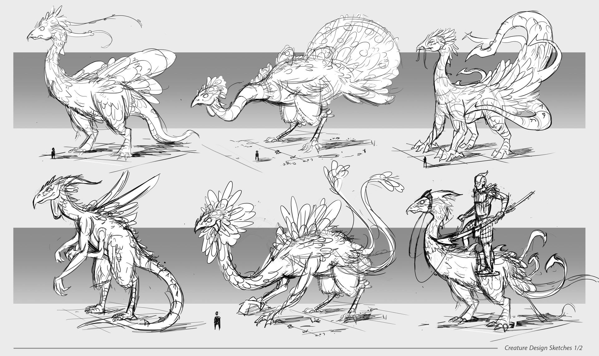 Dennis van kessel creature sketches 1