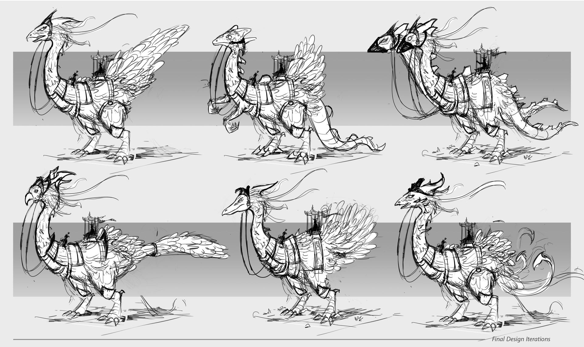 Dennis van kessel creature design iterations