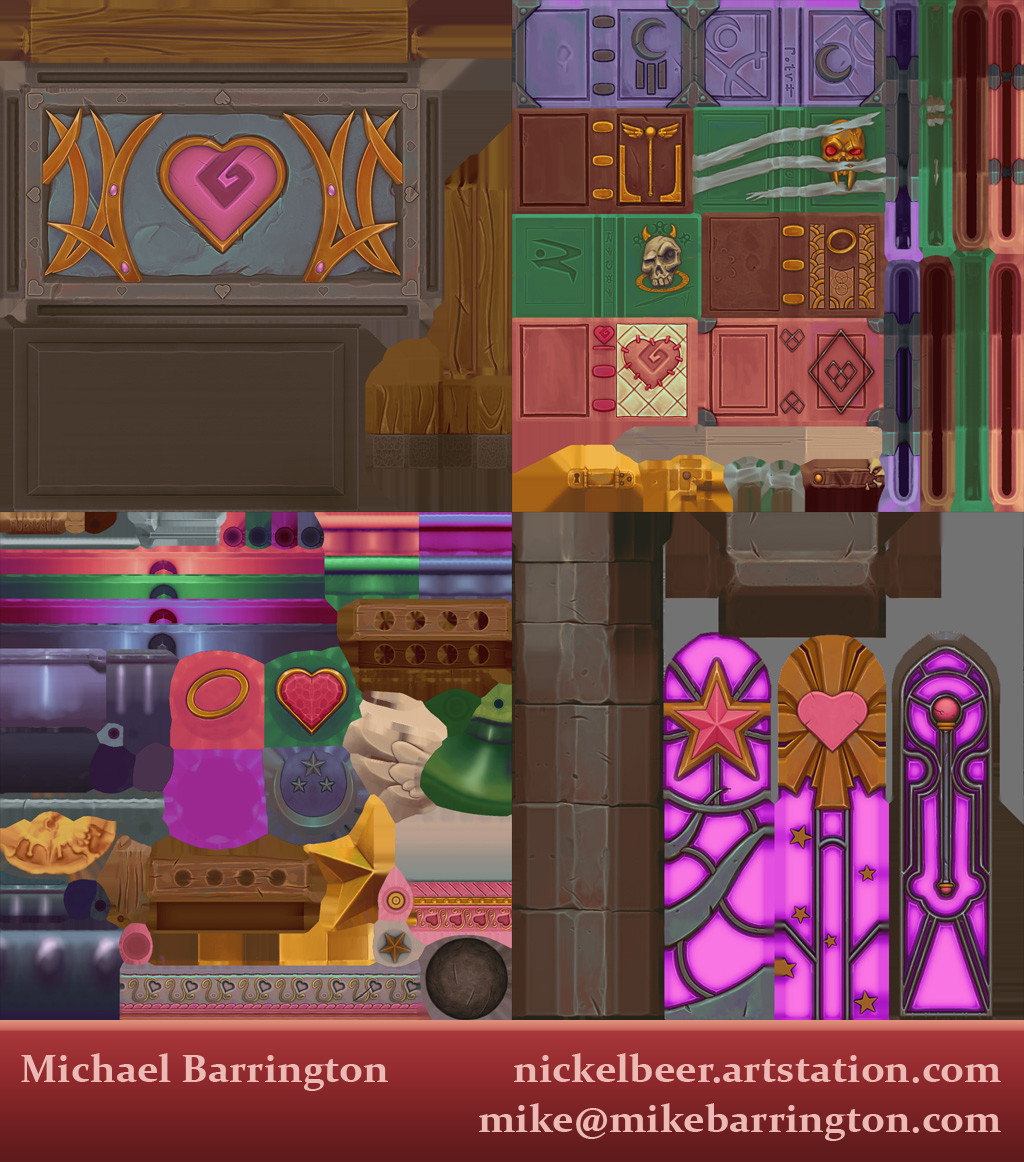 Sample of 4 textures in the scene