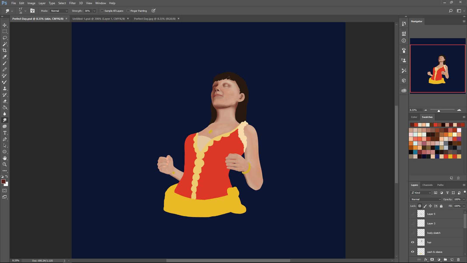 First in progress screenshot.