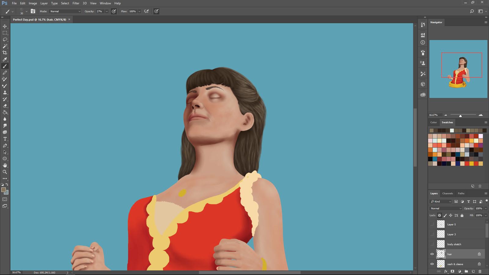 Second in progress screenshot.