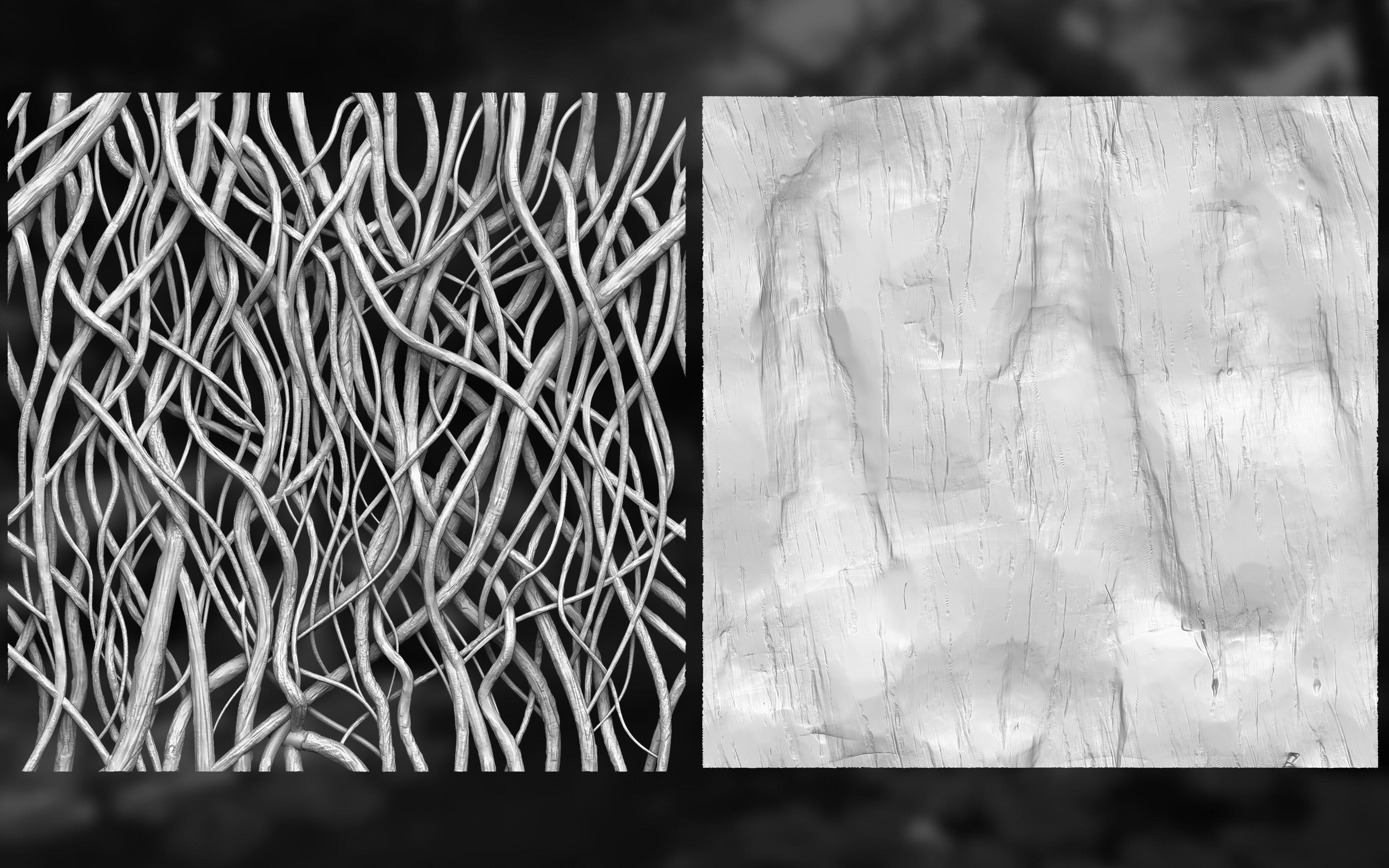 Roots/Bark sculpts
