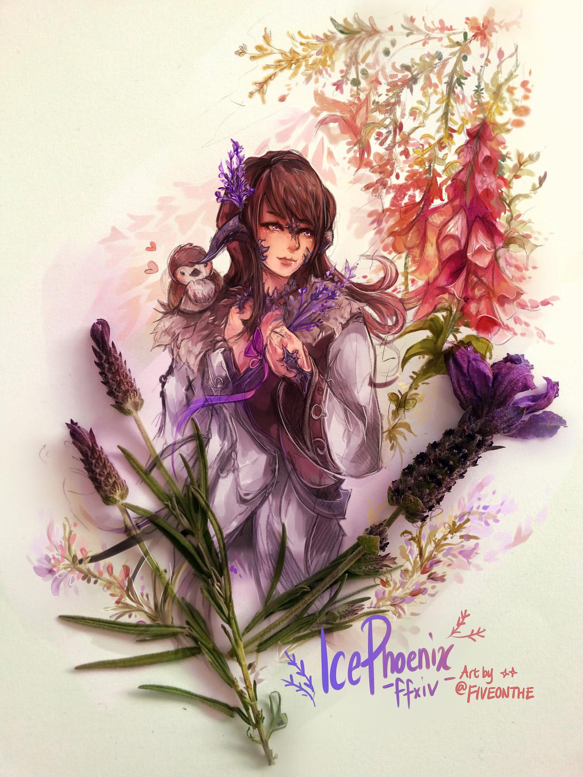 Lavender Au Ra.