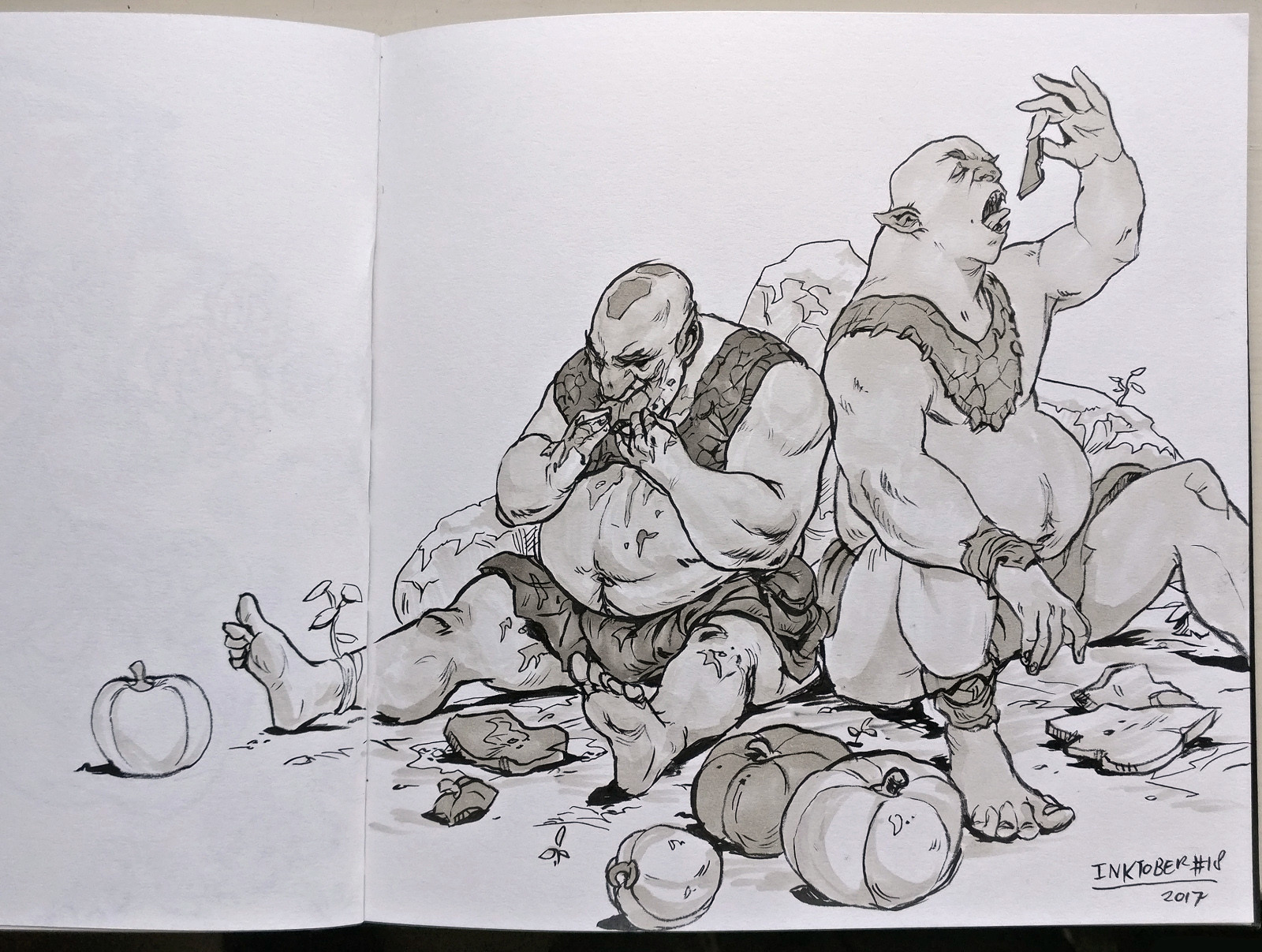 Inktober day 18! Filthy