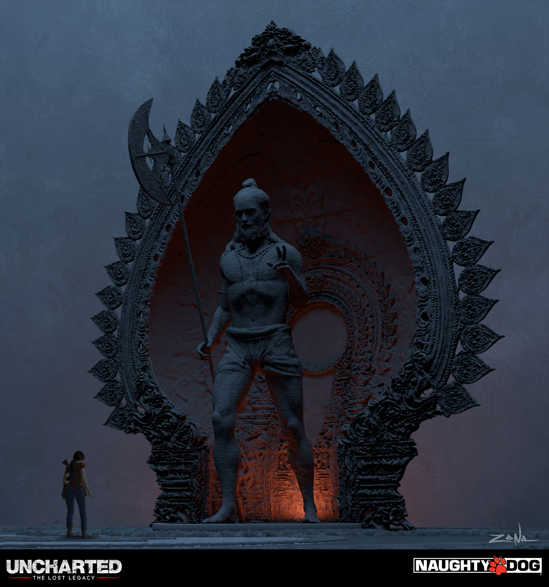 Uncharted the lost legacy shiva temple statue designs