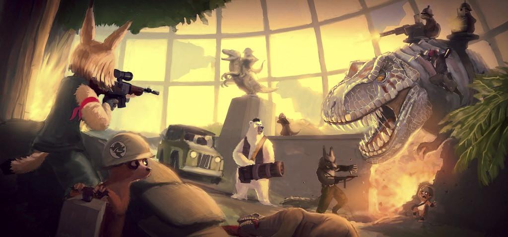 Company of Mammals combat scene concept.