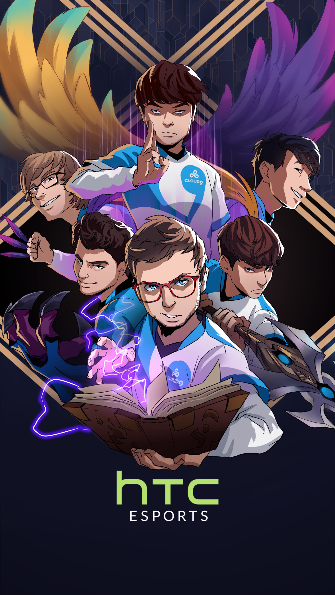 Artstation Htc Worlds 2017 Tsm And C9 Phone Wallpapers