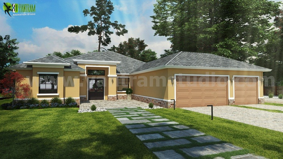 Artstation Small House Design Ideas Front Exterior Rendering By