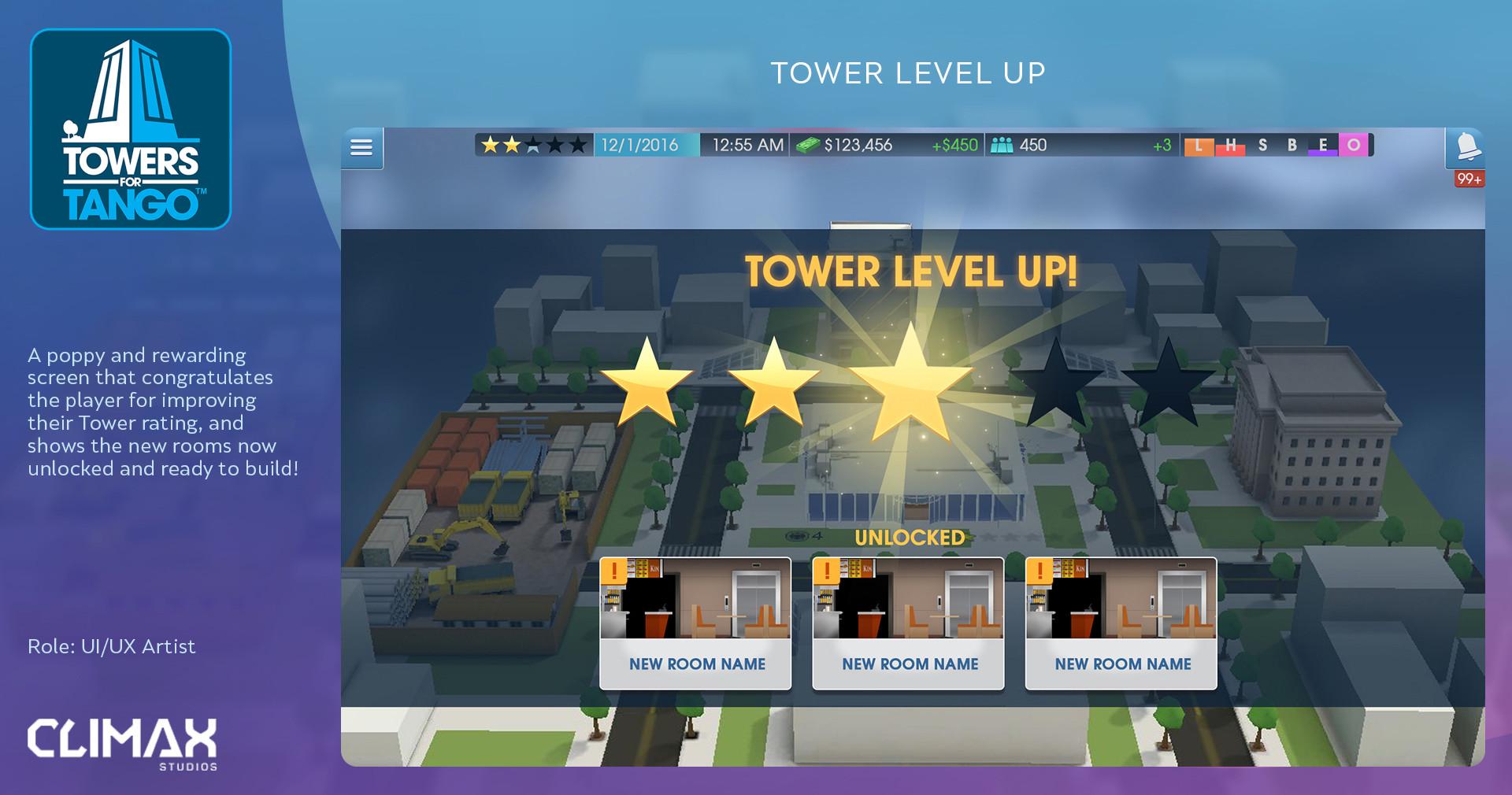 Matt Gretton - UI/UX - Towers for Tango
