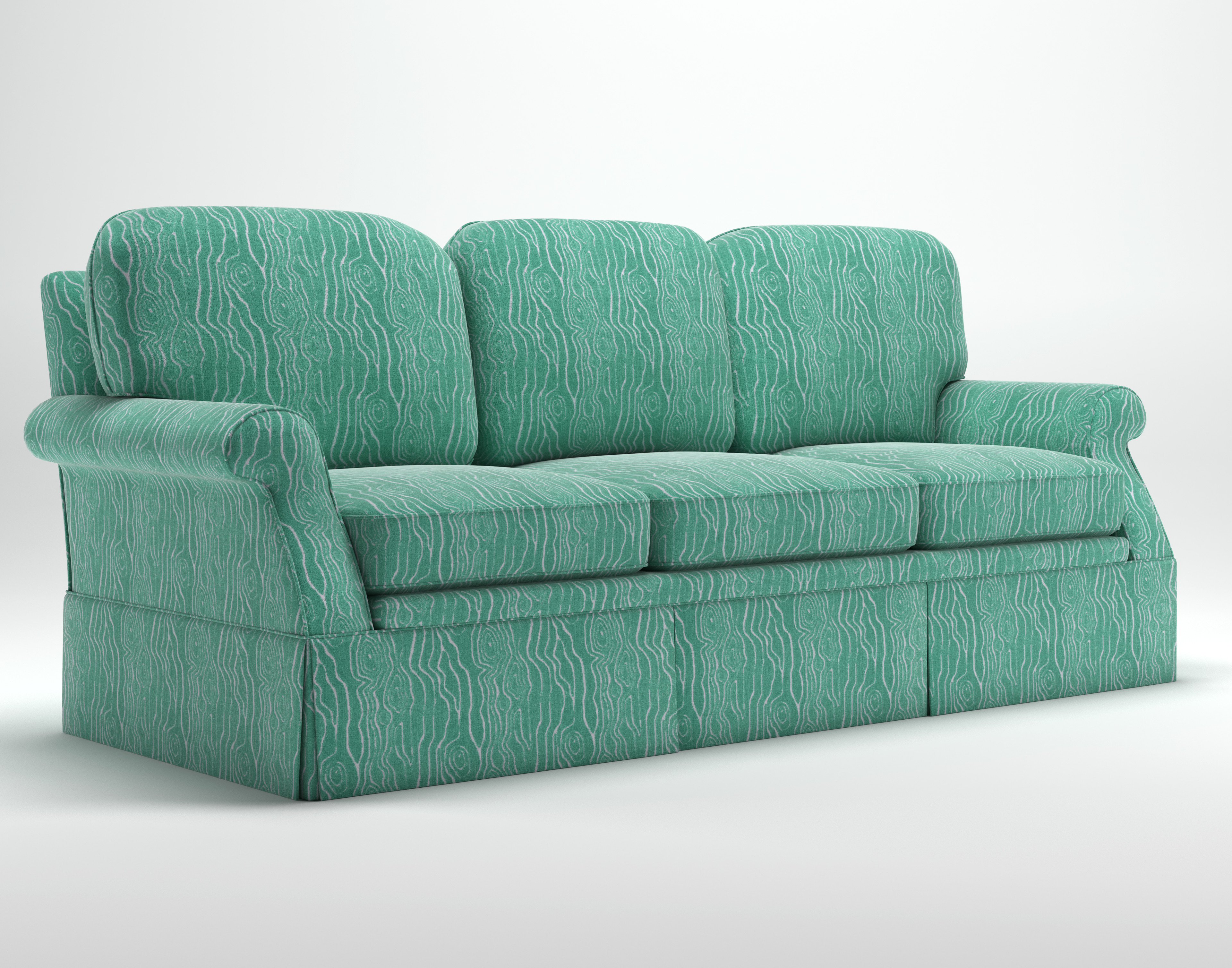 Sofa Style 2: Back cushion corners are more rounded off.