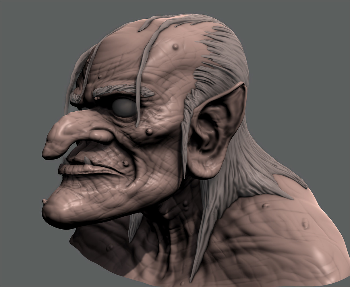 Halloween Witch  Mudbox Sculpt.  Still learning the ins/outs of Mudbox...this one took around 6 hours.