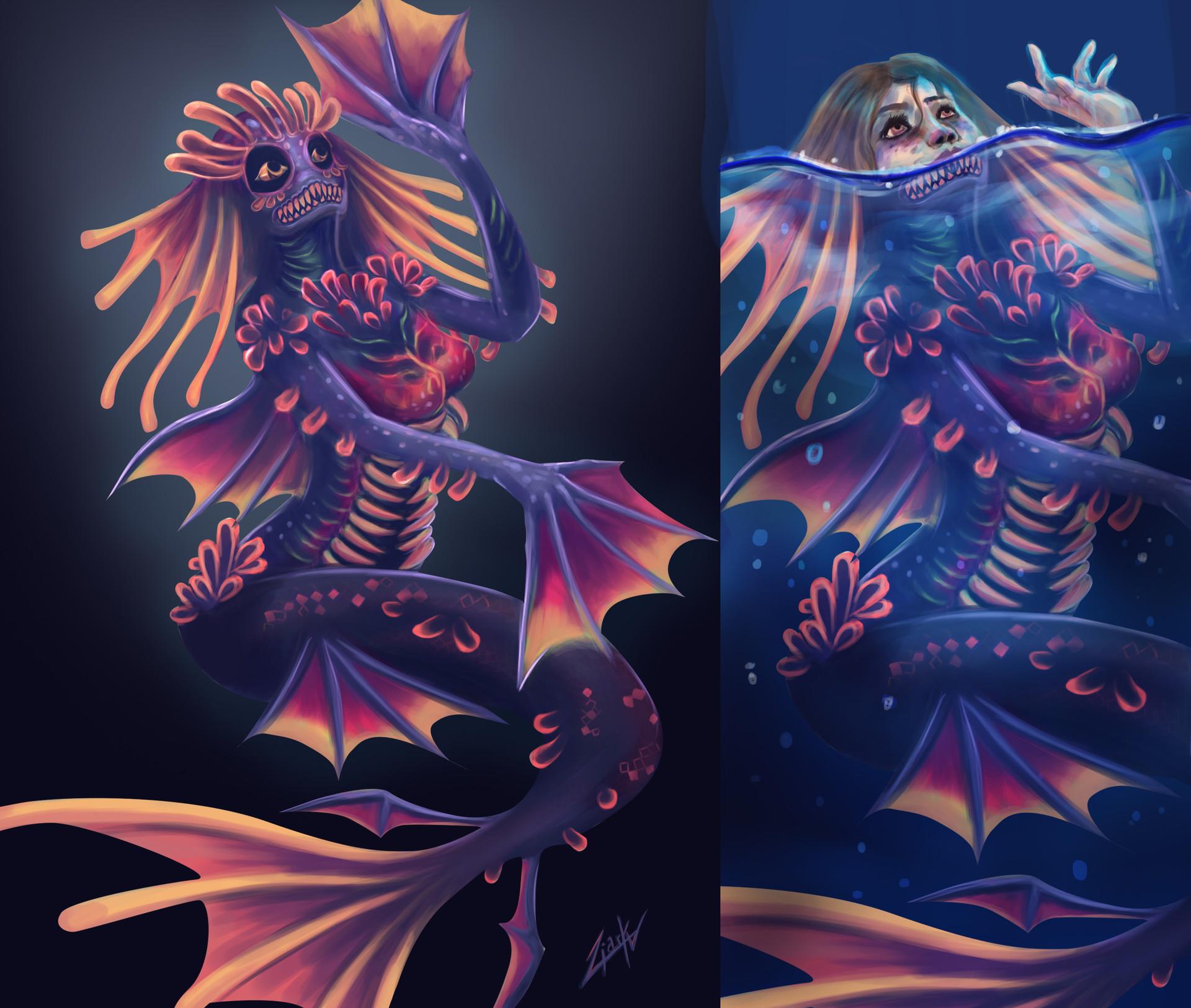 Liark2z a mermaid concept by liark2z da592bn