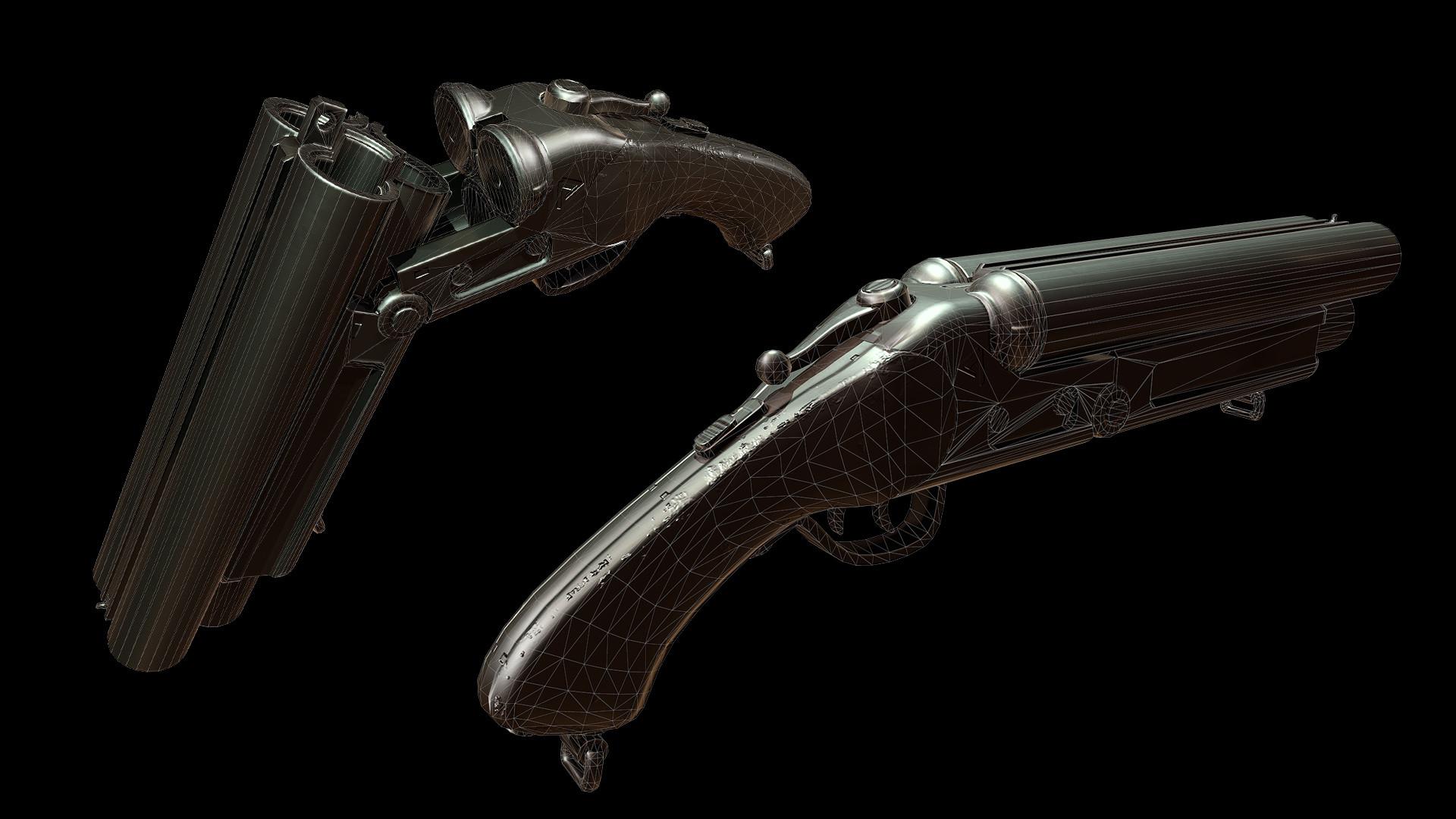 Sergey tyapkin shotgun render 3