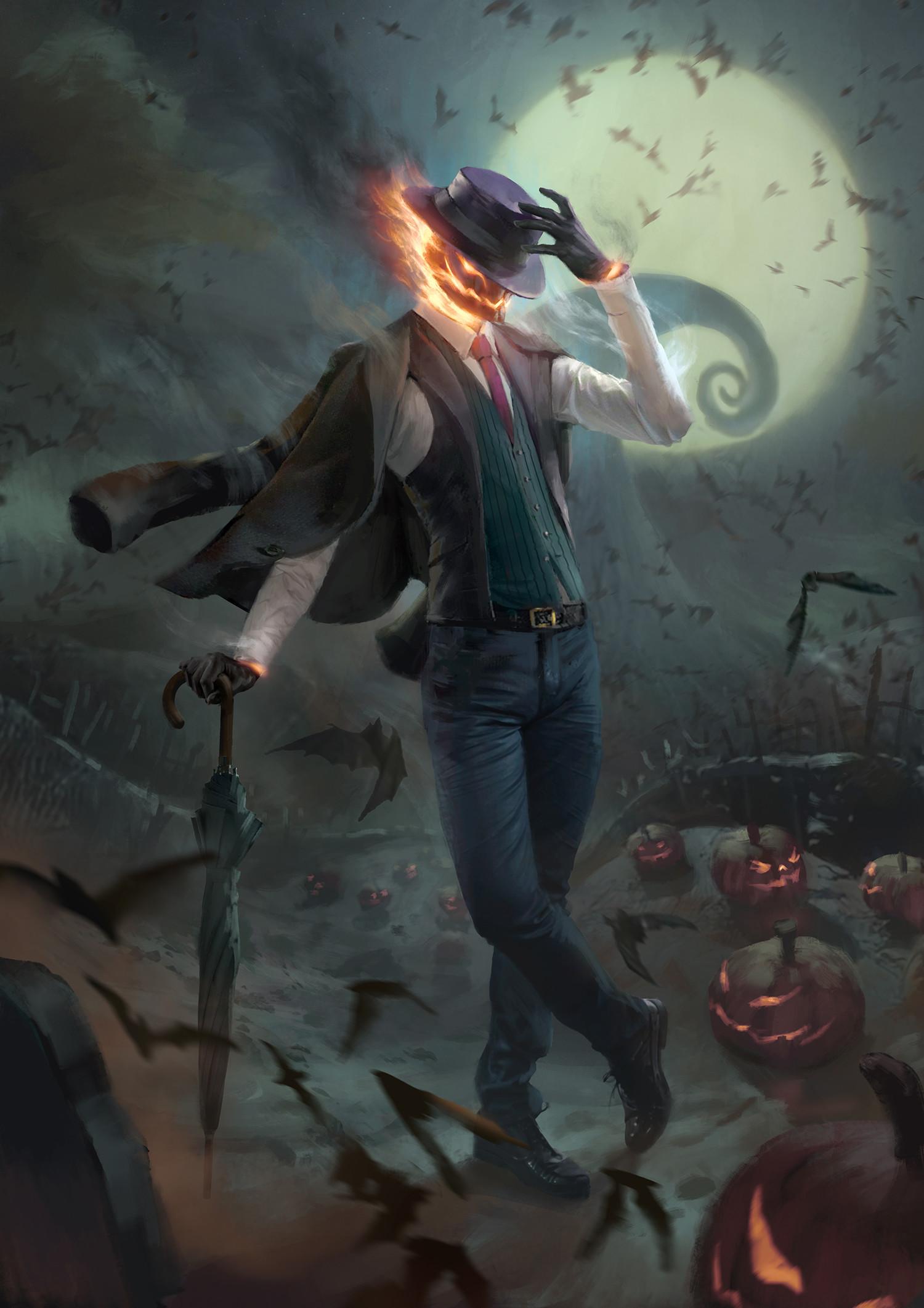 ArtStation - Spooky Jack O' Lantern 2, Billy Christian