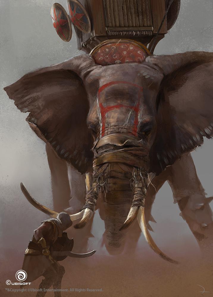 Martin deschambault aco bayek war elephant action mdeschambault