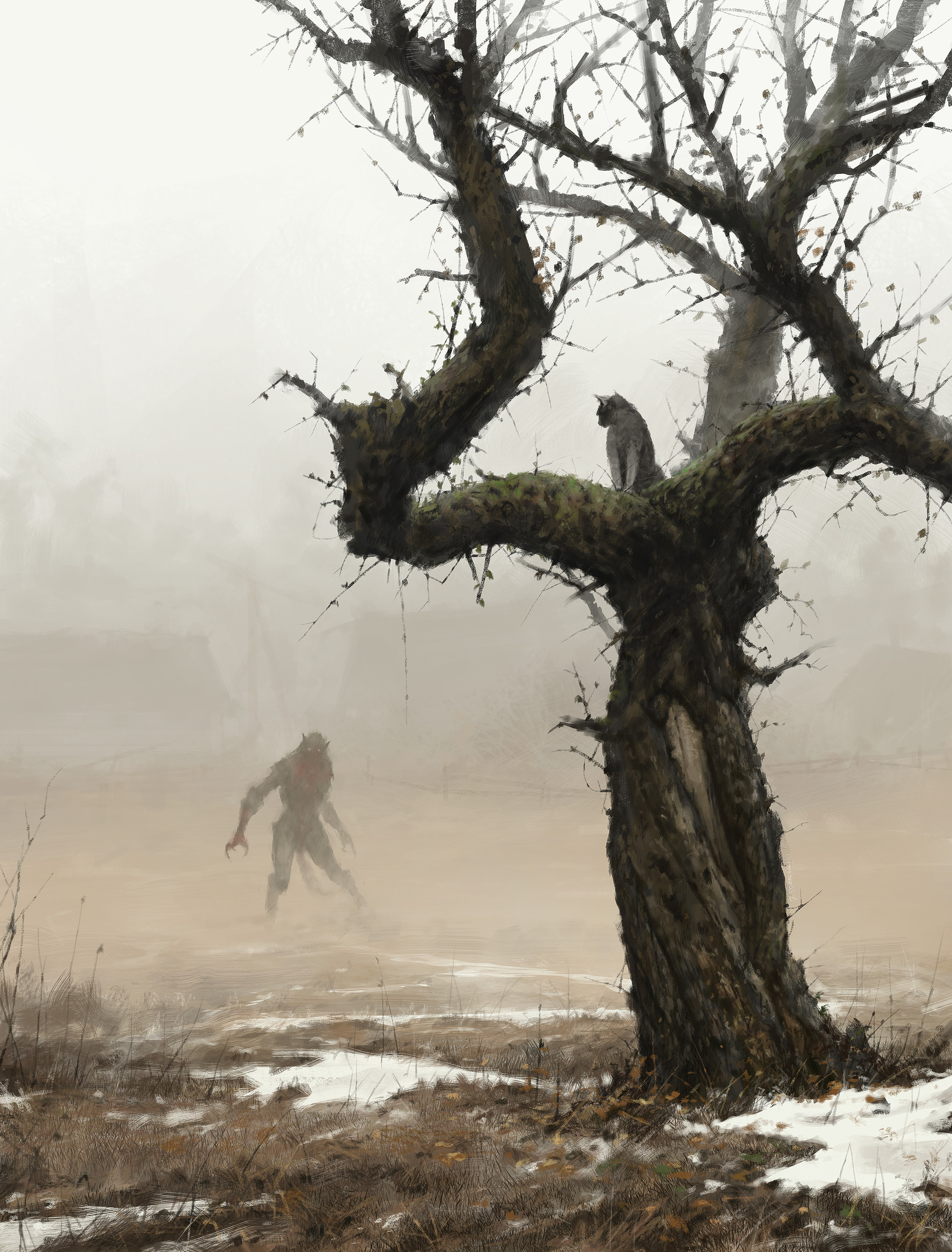Jakub rozalski cat see everything 01