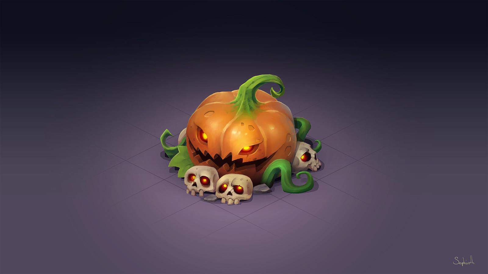 Isometric Halloween Pumpkin