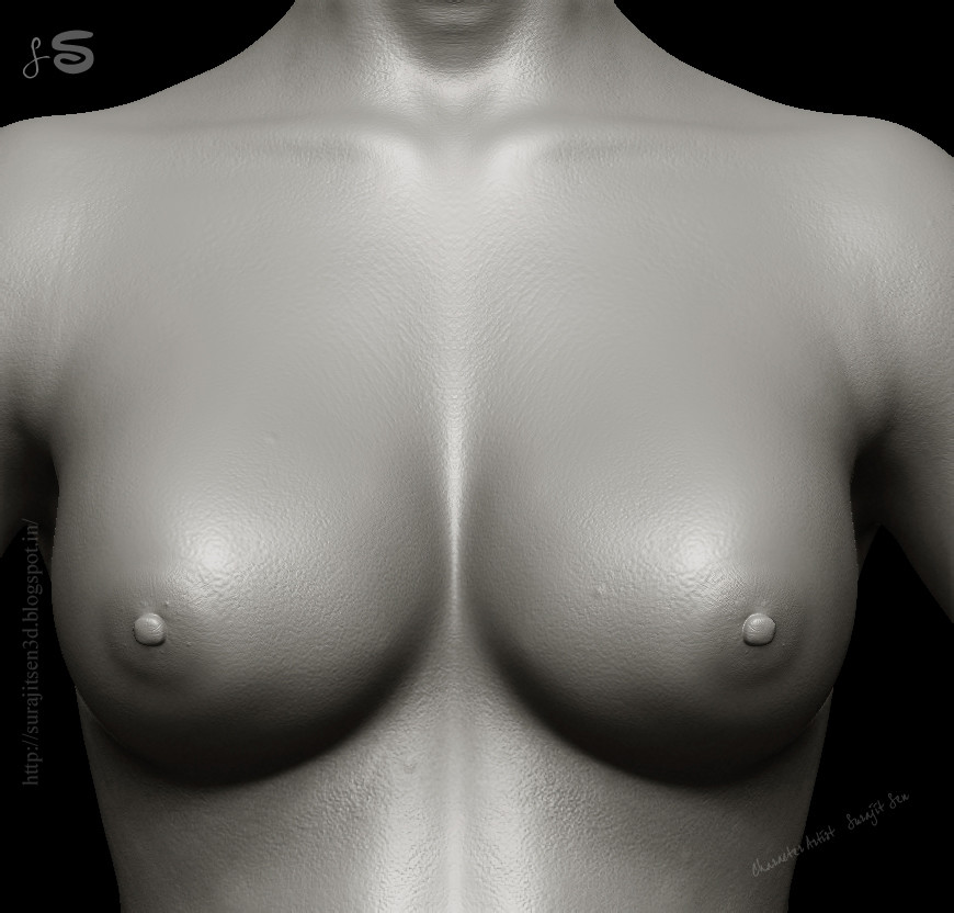 Surajit sen 12 female breast sculpt surajitsen
