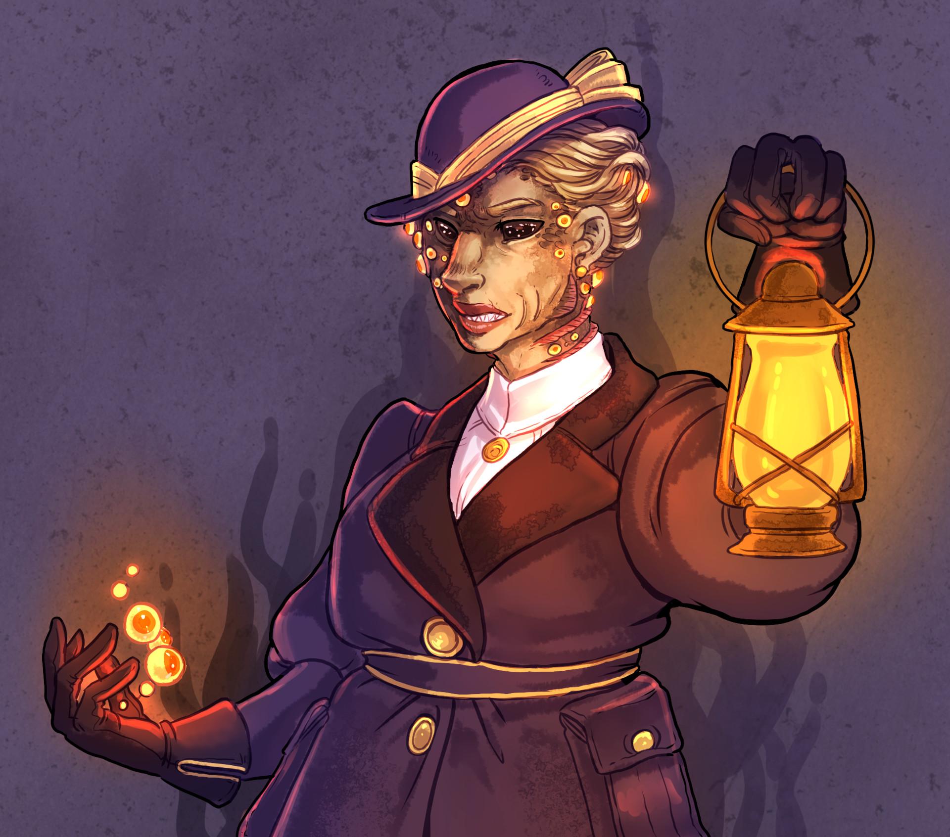 Anna landin eldritchhorrorwoman illustration closeup