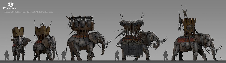 Martin deschambault aco war elephant sketches mdeschambault