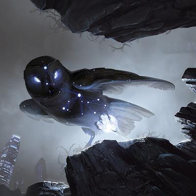 Eran fowler noctua steals the moon by eranfowler