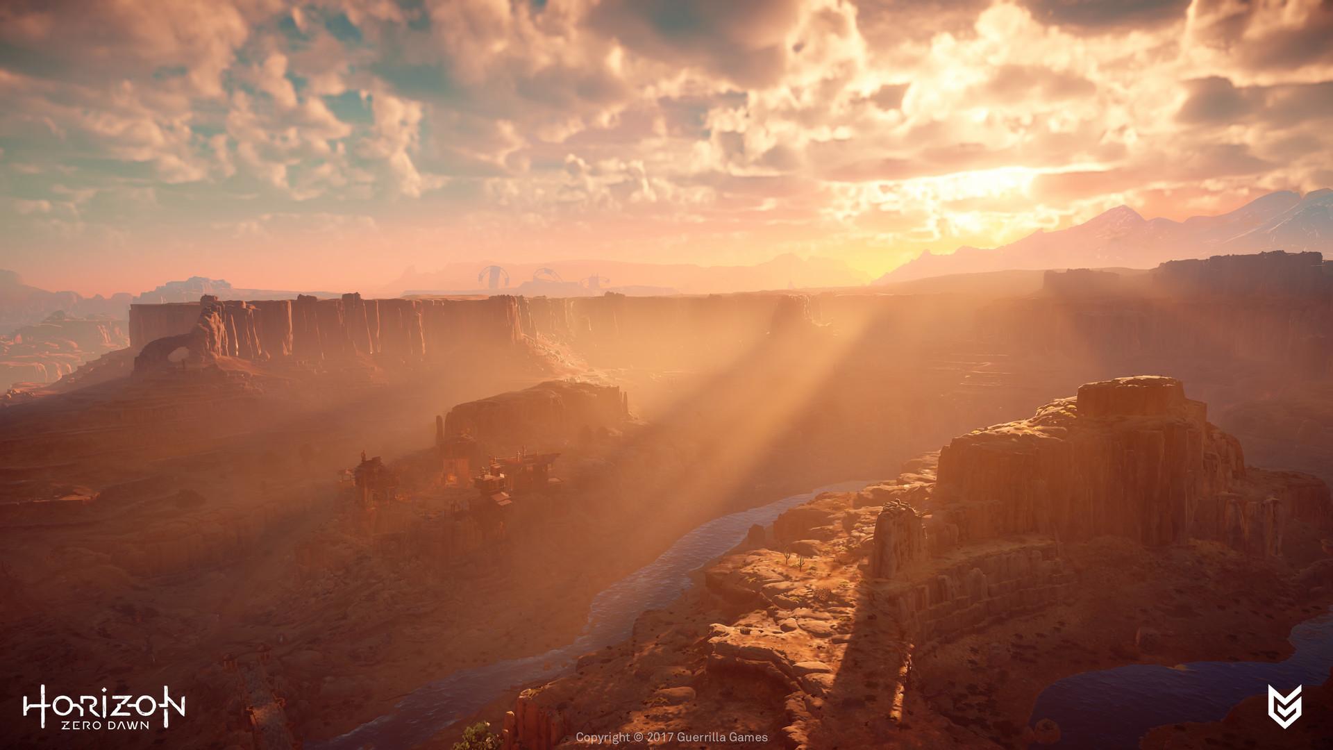 Lukas kolz sun carja lands with view on lone light