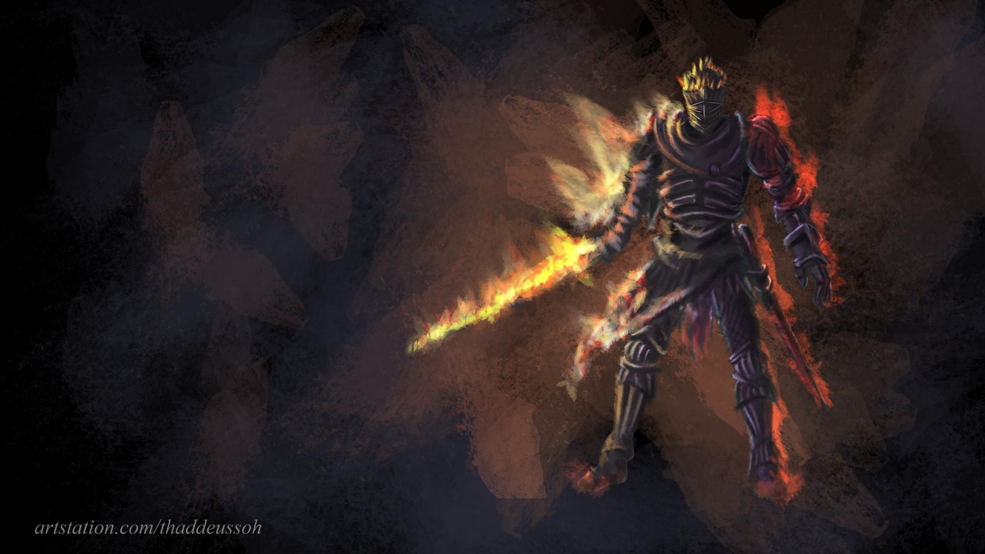 Artstation Dark Souls 3 Fanart Soul Of Cinder Thaddeus Soh