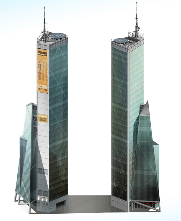 I provided art and design direction for this High- density, high- wealth commercial building concept art by Sperasoft
