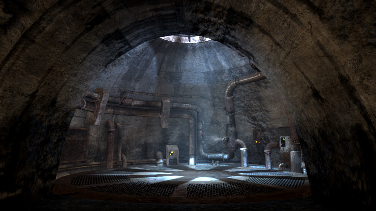 I designed, set dressed, created all the assets in, and lit this elevator shaft in Jabba's palace.
