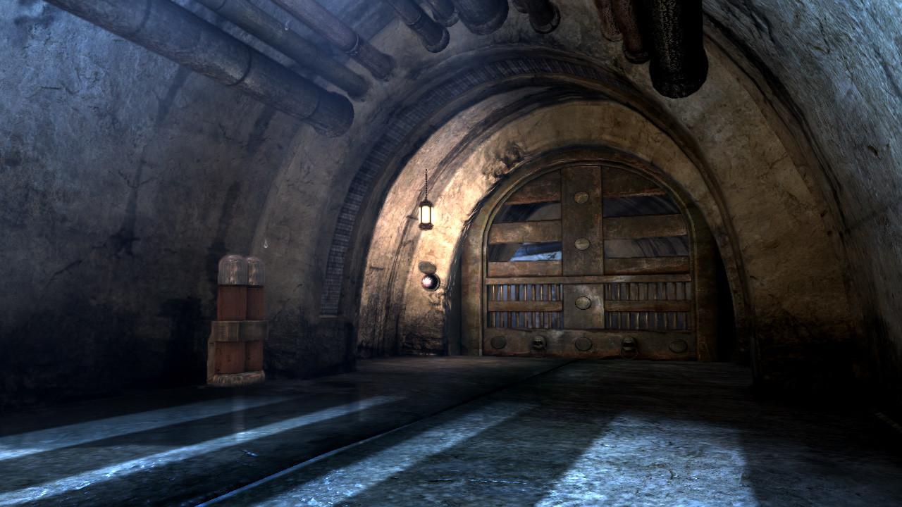 Another view of the dungeon corridor and doorway.