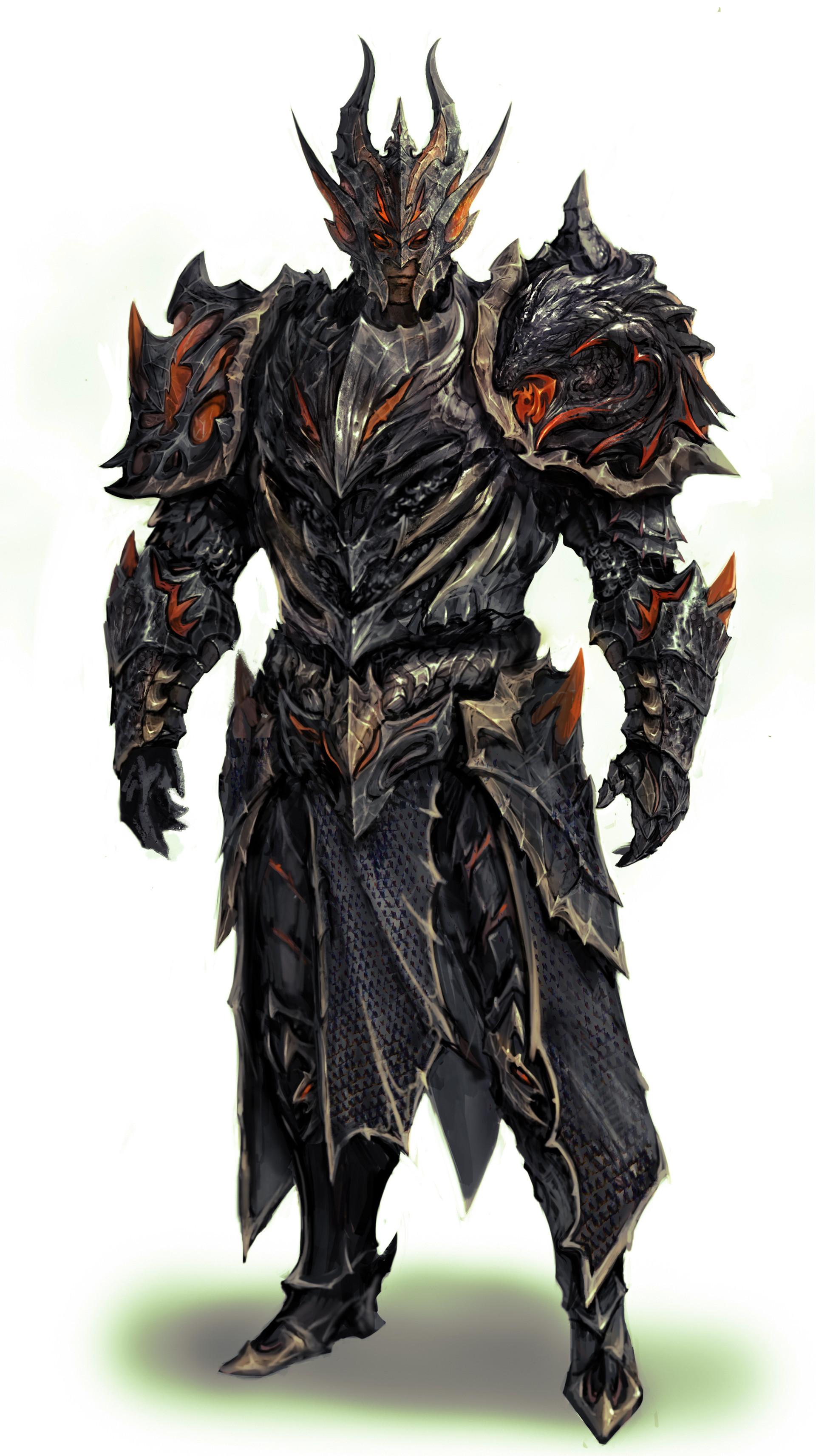 Artstation Dragon Armor Kyung Han Kim A character from anime demons high school. artstation dragon armor kyung han kim