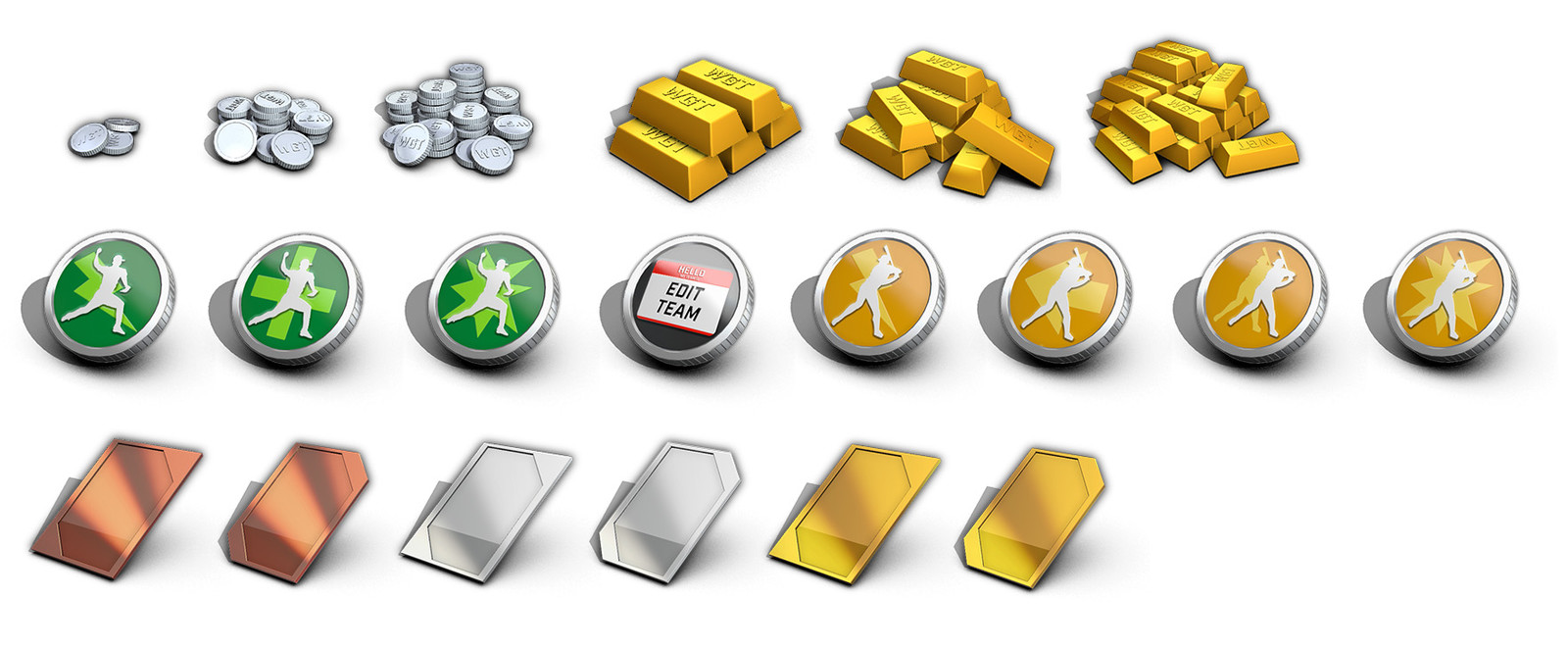 I designed, modeled, and rendered these UI icons in Maya
