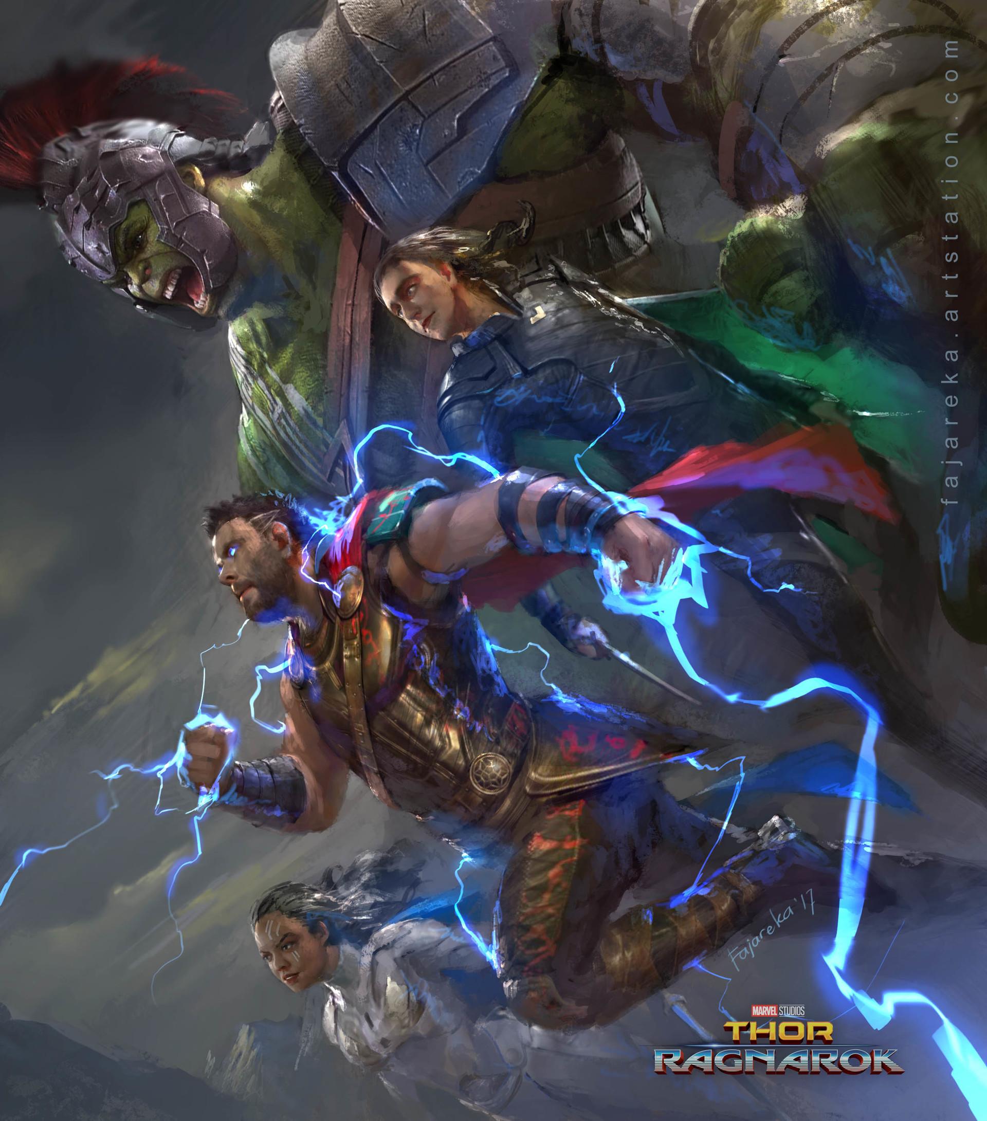 Artstation Thor Ragnarok Fanart Fajareka Setiawan